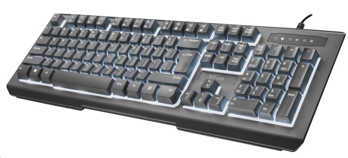 TRUST klávesnice Lito Backlit Multimedia Keyboard