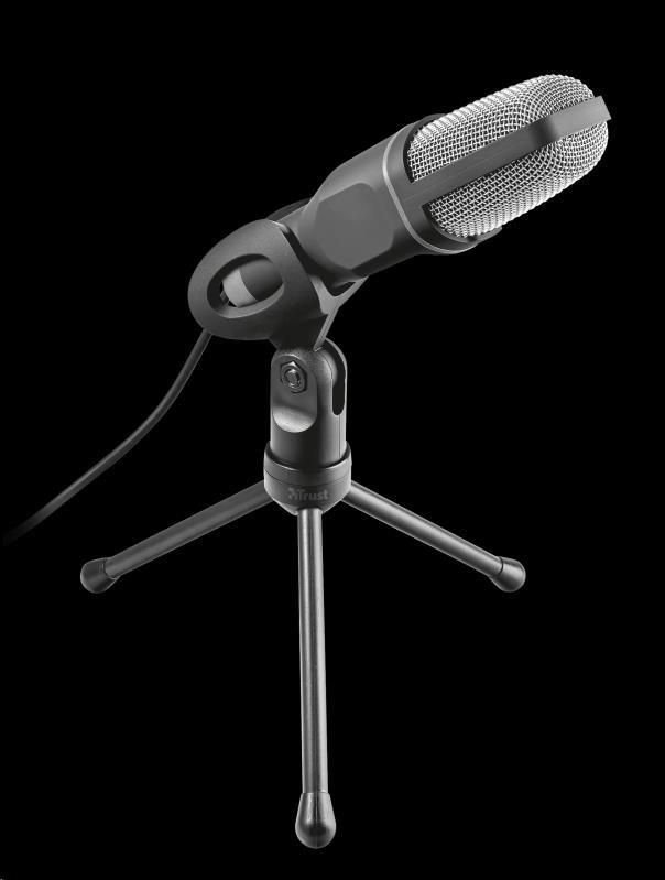 TRUST mikrofon Voxa USB desk microphone - černý