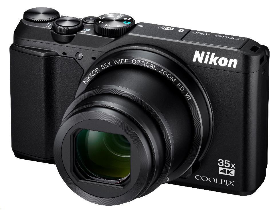 Nikon kompakt Coolpix A900, 20.3MPix, 35x zoom - černý (VNA910E1)