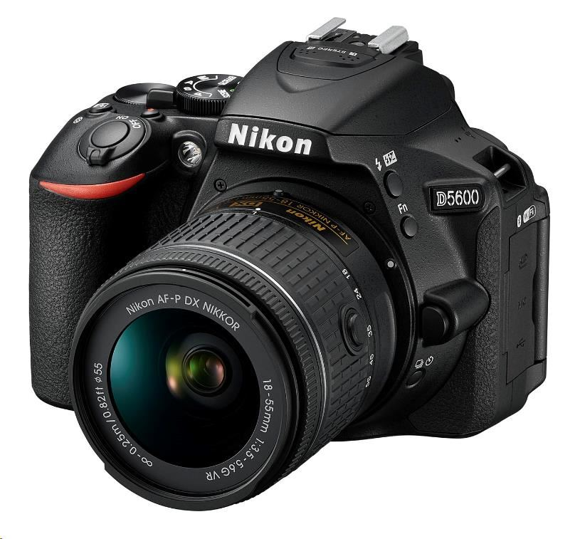 NIKON zrcadlovka D5600 body + 18-55 AF-P VR KIT černý (VBA500K001)