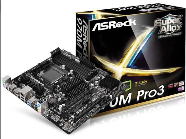 ASRock MB Sc AM3+ 970M PRO3, AMD 970, 4xDDR3, mATX