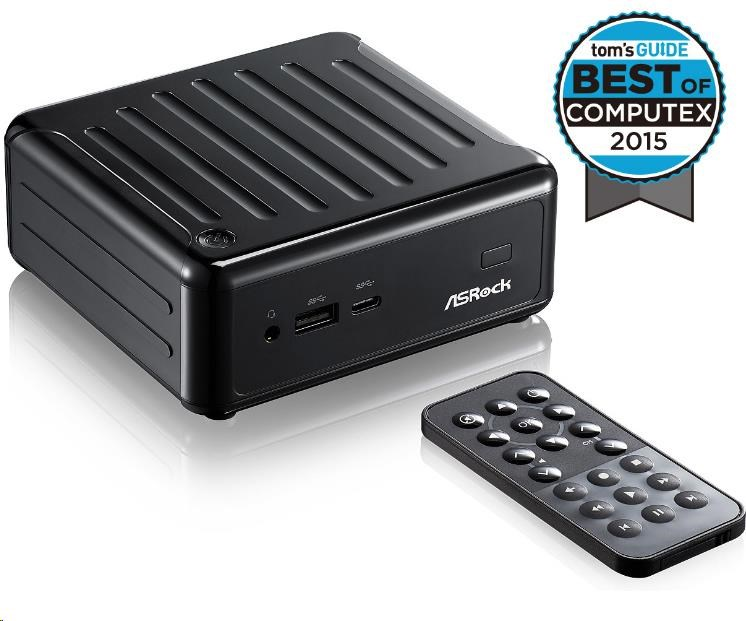 ASRock Mini PC BEEBOX Intel® Quad-Core Processor J3160-NUC (Barebone), remote controller, black (BEEBOX J3160/B/BB)