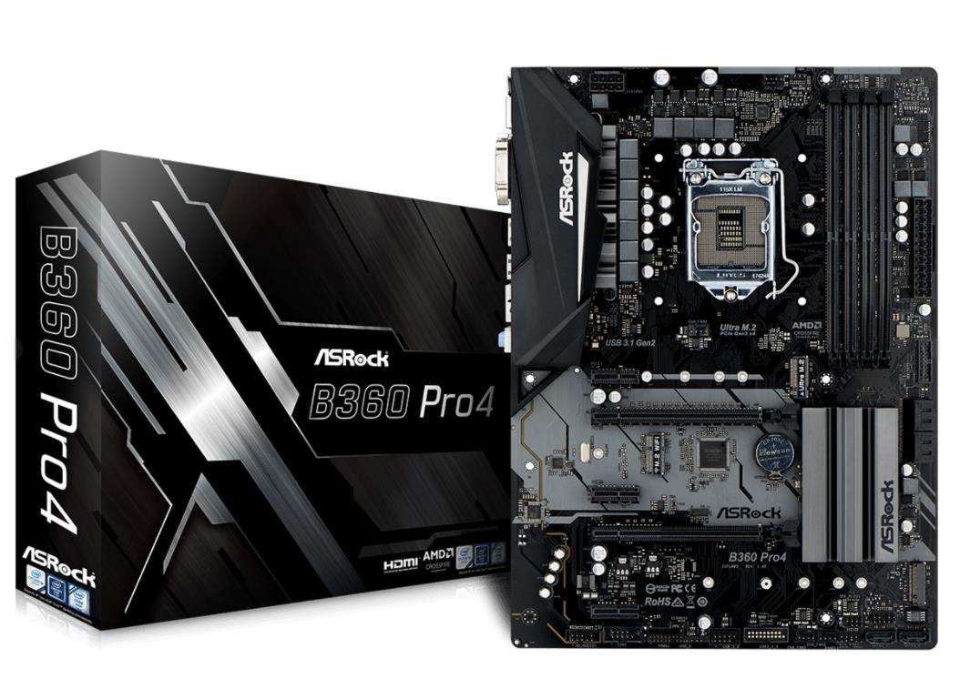 ASRock MB Sc LGA1151 B360 Pro4, Intel B360, 4xDDR4, VGA