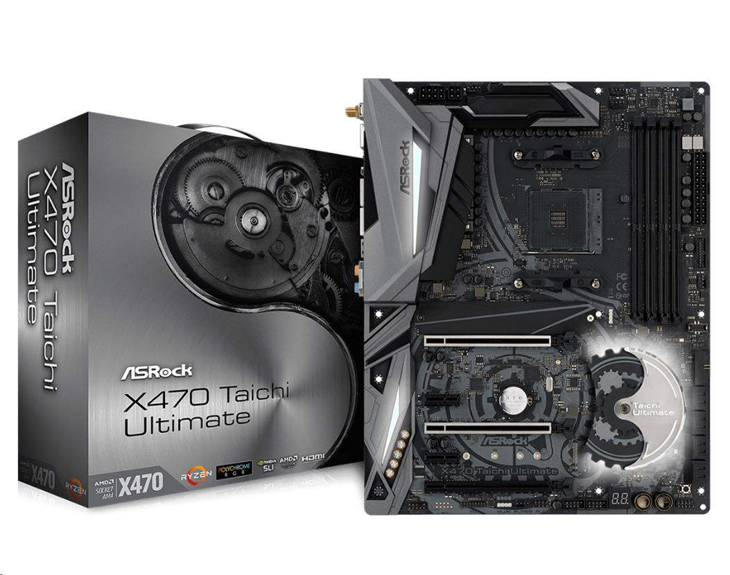 ASRock MB Sc AM4 X470 Taichi Ultimate, AMD X470, 4xDDR4, VGA, Wi-Fi,