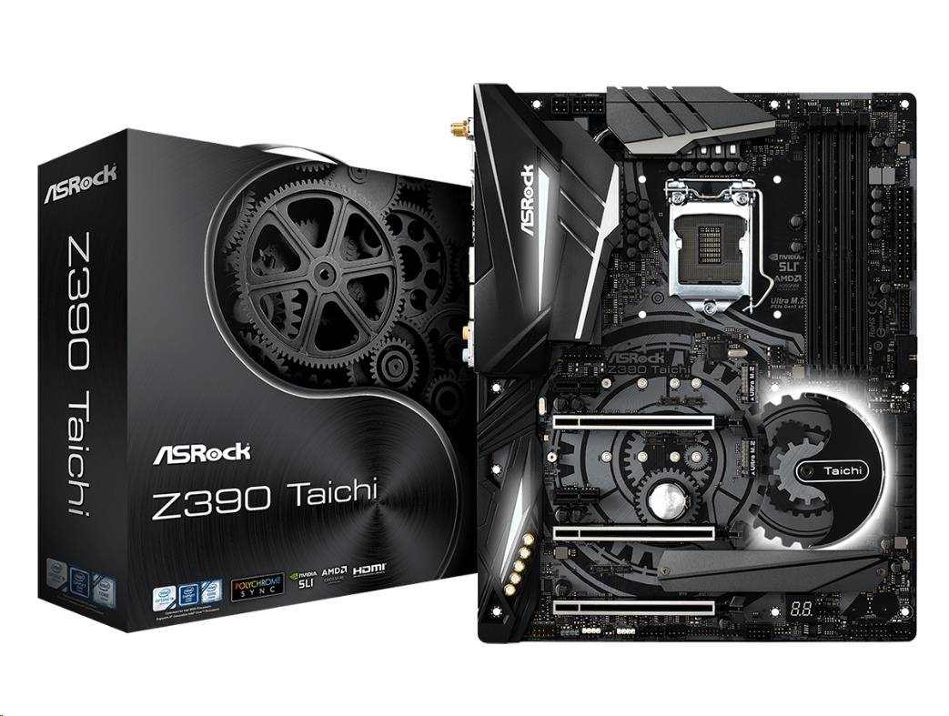 ASRock MB Sc LGA1151 Z390 TAICHI, Intel Z390, 4xDDR4, VGA, WIFI