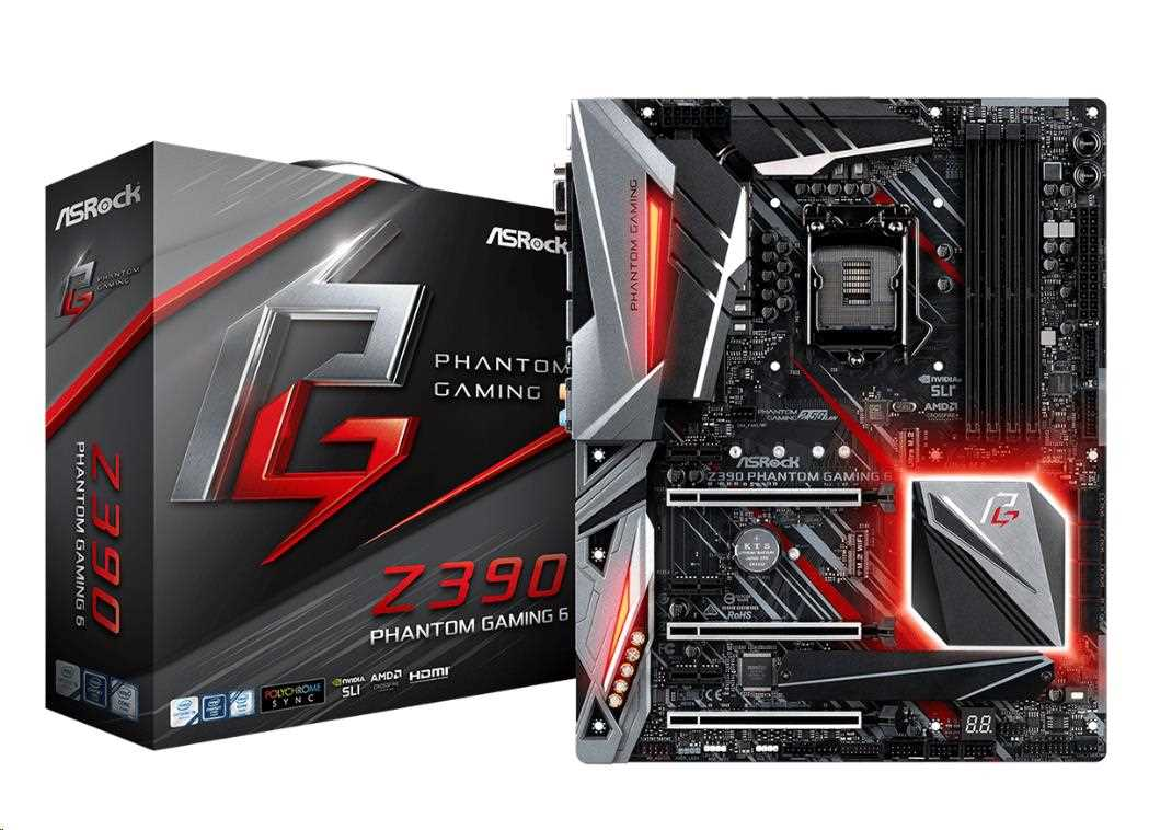 ASRock MB Sc LGA1151 Z390 PHANTOM GAMING 6, Intel Z390, 4xDDR4, VGA