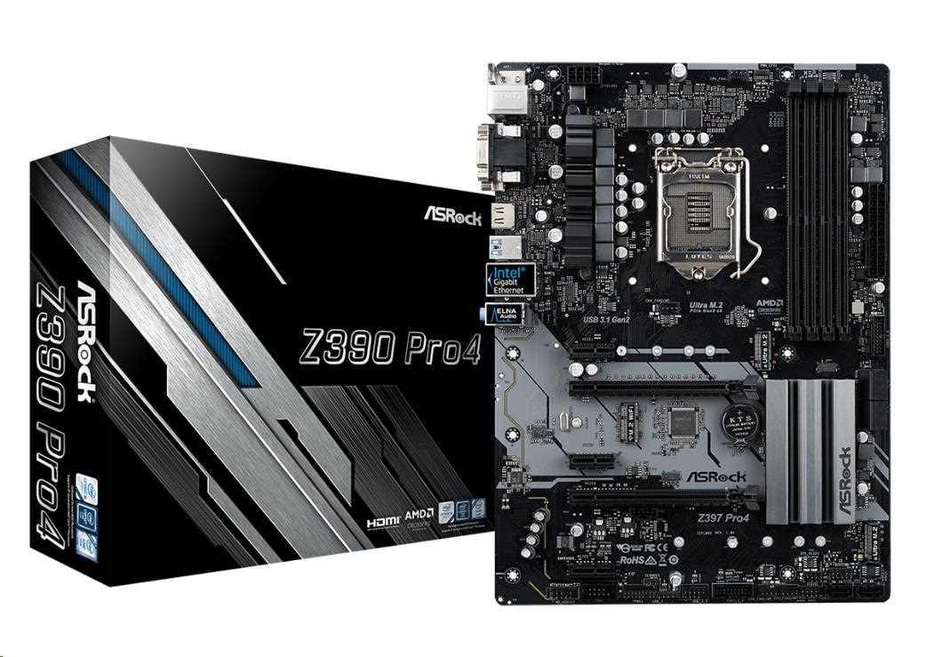 ASRock MB Sc LGA1151 Z390 PRO4, Intel Z390, 4xDDR4, VGA