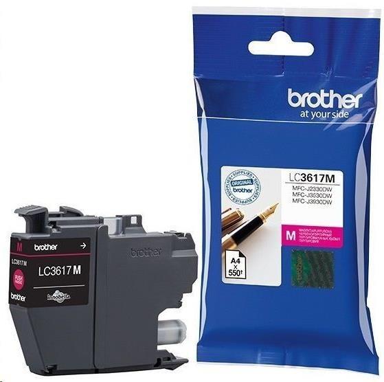 BROTHER INK LC-3617M purpurový, magenta - 550stran, J2330, J3530, J3930