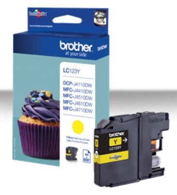 BROTHER INK LC-123Y yellow cca 600 (LC123Y)