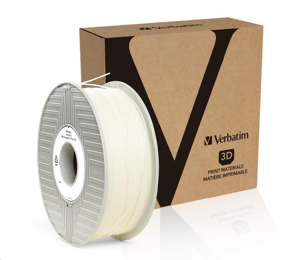 VERBATIM Filament Retail BOX ABS 1.75mm 1kg - Transparent (55015)