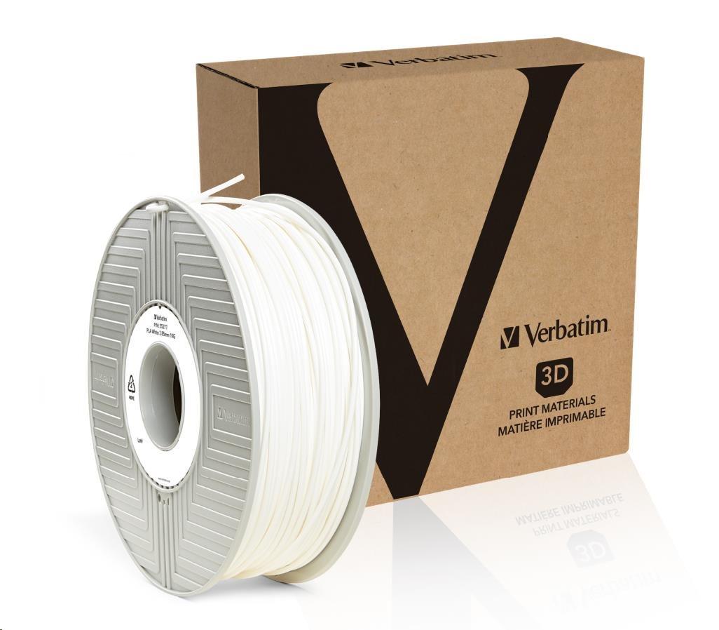 VERBATIM Filament Retail BOX PLA 2.85mm 1kg - WHITE (55277)