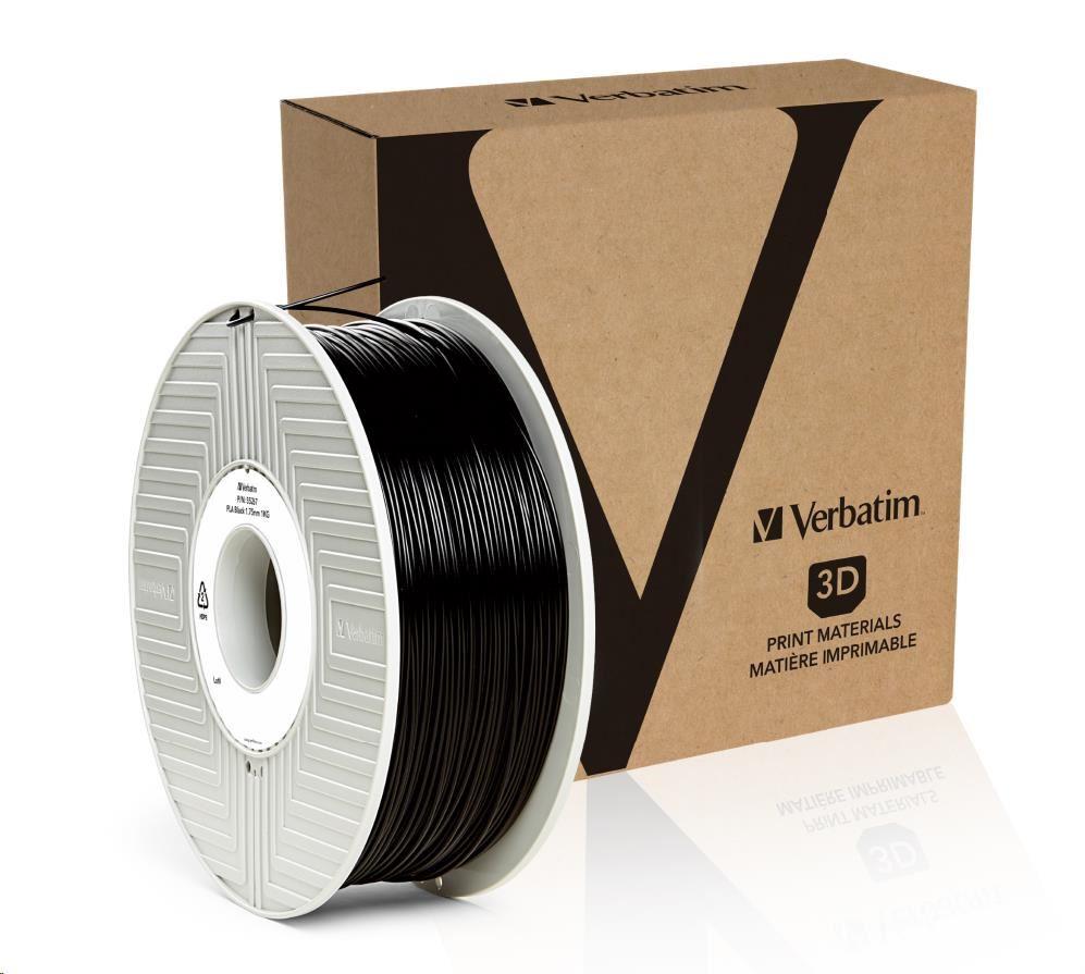 VERBATIM Filament Retail BOX PLA 1.75mm 1kg - BLACK (55267)