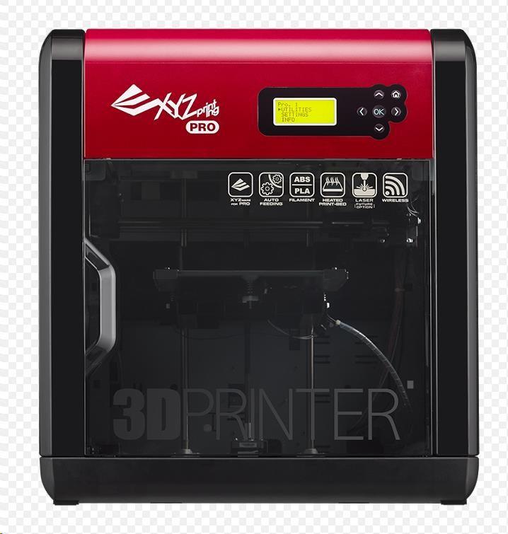 3D tiskárna XYZ da Vinci 1.0 Pro 3v1 (Single extruder, Scaner, gravírování, USB, Wifi / Open source, ABS, PLA) (3F1ASXEU01K)