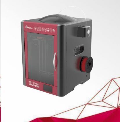 3D tiskárna XYZ da Vinci Super (ABS, PLA,Nylon,PC,PETG,TPE,PVA,30x30x30cm,50-400 mikronů, USB 2.0,WIFI) (3F1SWXEU00C)