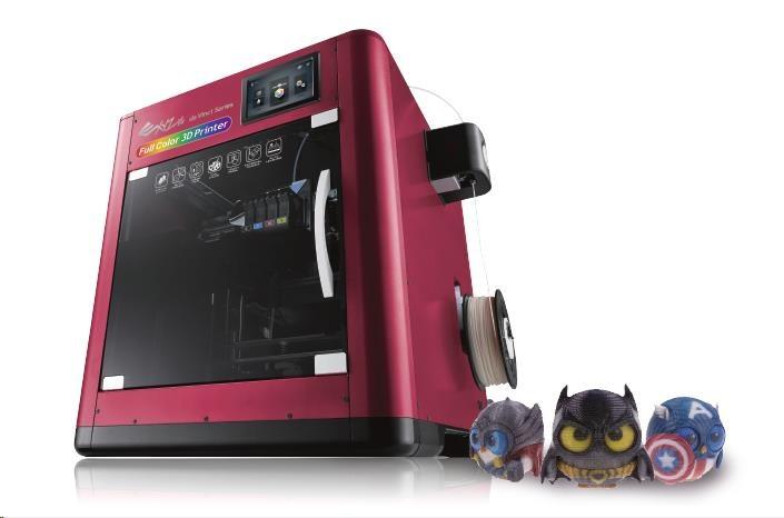 3D tiskárna XYZ da Vinci Color (PLA,PETG,inkoust,20x20x15cm,100-400 mikronů, USB 2.0,WIFI,120 mm/s) (3FC1XXEU01B)
