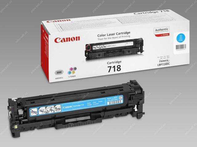 Canon LASER TONER cyan CRG-718C (CRG718C) 2 900 stran* (2661B002)