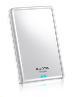 """ADATA Externí HDD 500GB 2,5"""" USB 3.0 DashDrive HV620, bílý"""
