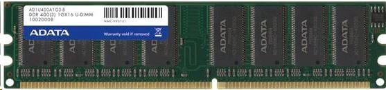 DIMM DDR 1GB 400MHz CL3 ADATA, retail (AD1U400A1G3-R)
