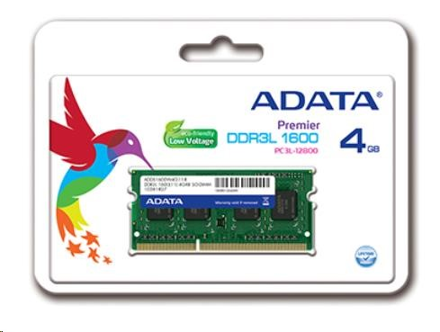 SODIMM DDR3L 4GB 1600MHz CL11 ADATA (ADDS1600W4G11-S)