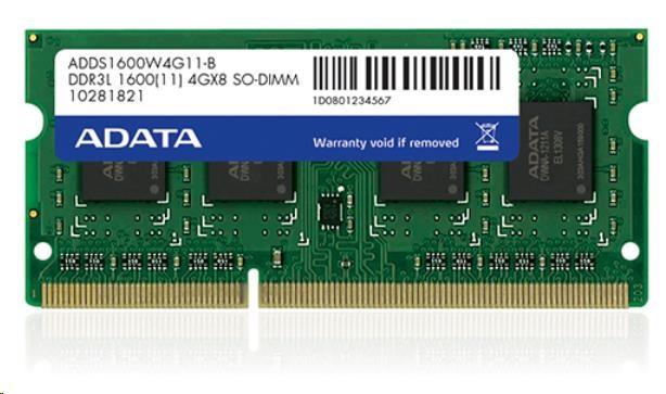 SODIMM DDR3L 8GB 1600MHz CL11 ADATA, bulk (ADDS1600W8G11-B)