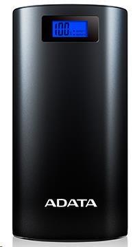 ADATA PowerBank P20000D - externí baterie pro mobil/tablet 20000mAh, 2,1A, černá (AP20000D-DGT-5V-CBK)