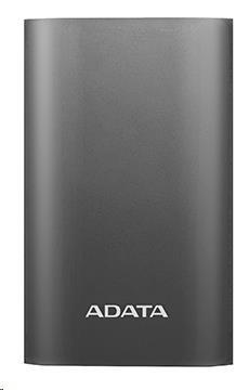 ADATA PowerBank A10050QC - externí baterie pro mobil/tablet 10050mAh, 3,1A, titanová USB C (AA10050QC-USBC-5V-CTI)