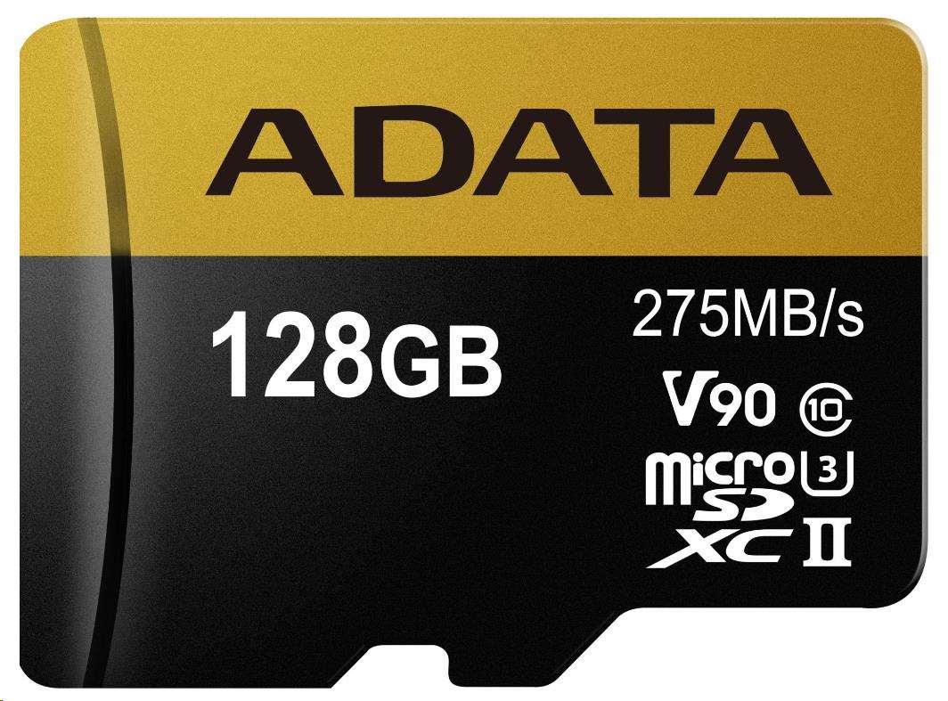 ADATA Micro SDXC karta 128GB UHS-I U3 + SD adaptér (AUSDX128GUII3CL10-CA1)