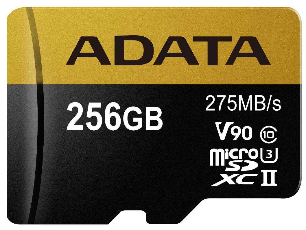 ADATA Micro SDXC karta 256GB UHS-I U3 + SD adaptér (AUSDX256GUII3CL10-CA1)