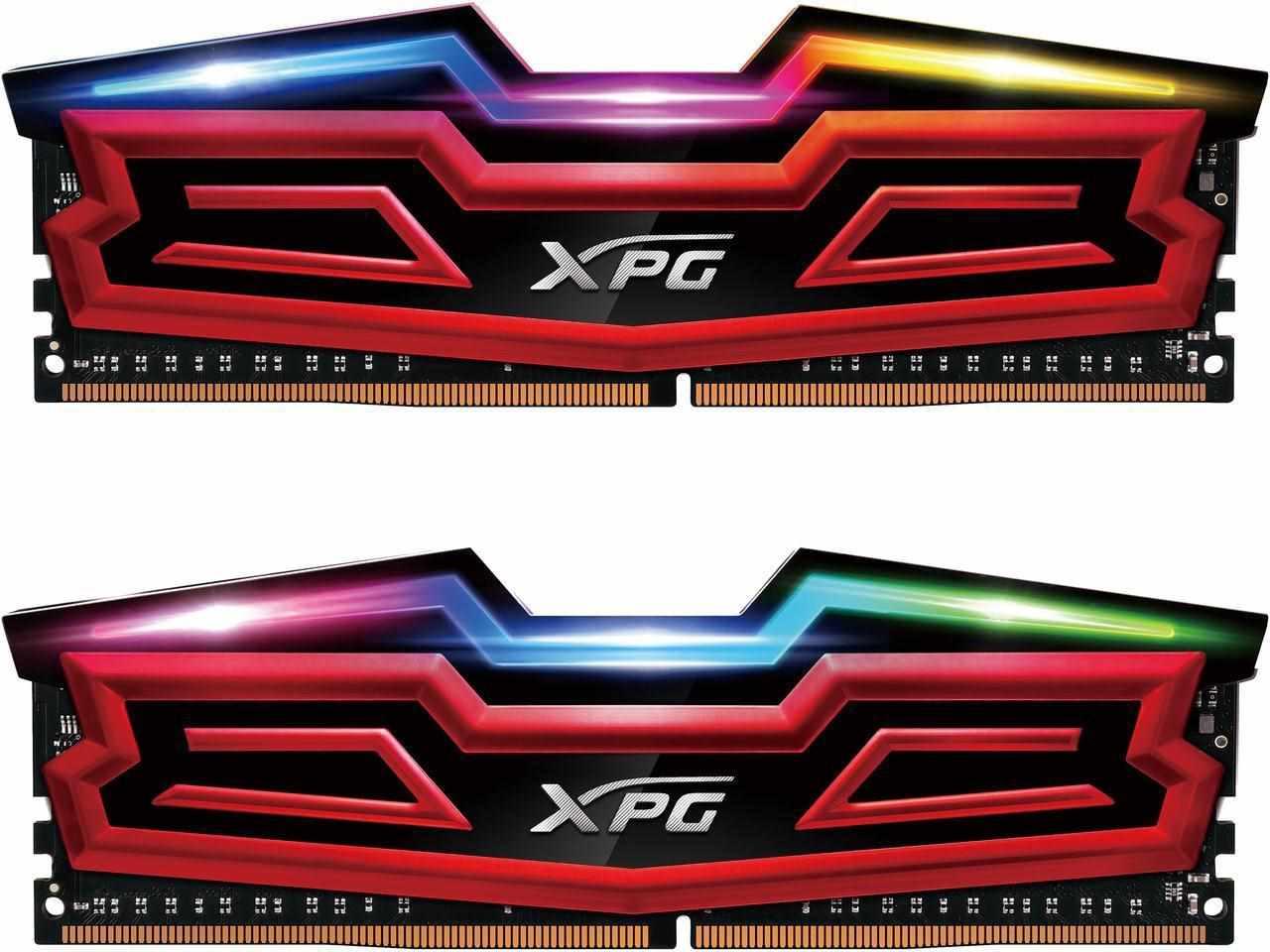 DIMM DDR4 32GB 3000MHz CL16 (KIT 4x8GB) ADATA XPG SPECTRIX D40, Red (AX4U300038G16-QRS)