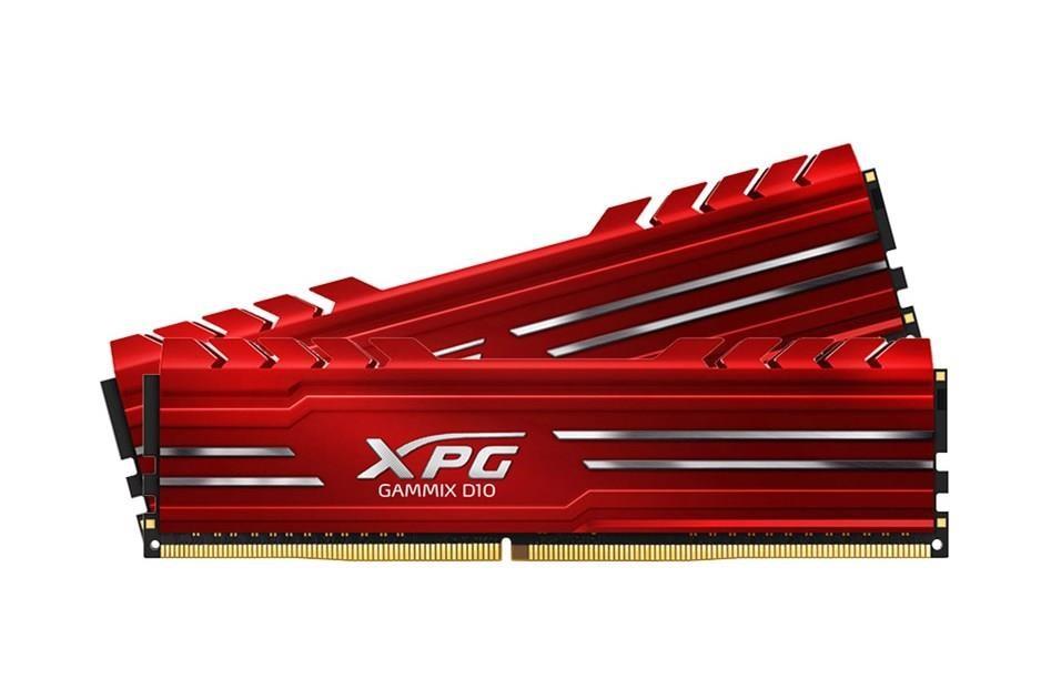 DIMM DDR4 16GB 3000MHz CL16 (KIT 2x8GB) ADATA XPG GAMMIX D10, Red (AX4U300038G16-DRG)