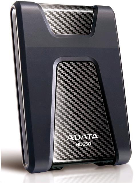 """ADATA Externí HDD 4TB 2,5"""" USB 3.1 DashDrive Durable HD650, černý (gumový, nárazu odolný) (AHD650-4TU31-CBK)"""