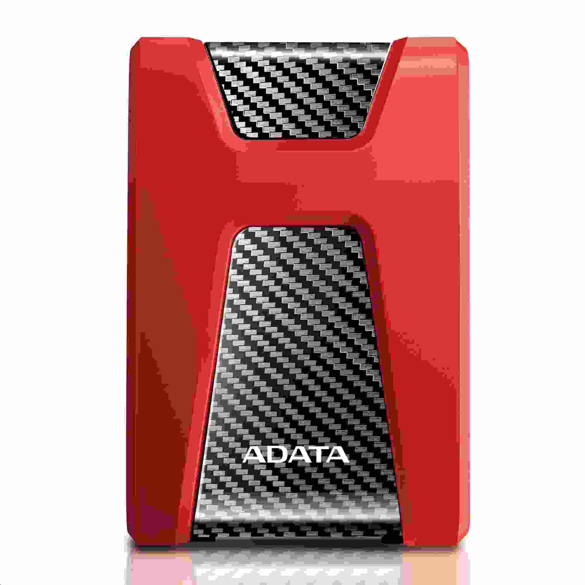 "ADATA Externí HDD 2TB 2,5"" USB 3.1 DashDrive Durable HD650, červený (gumový, nárazu odolný) (AHD650-2TU31-CRD)"
