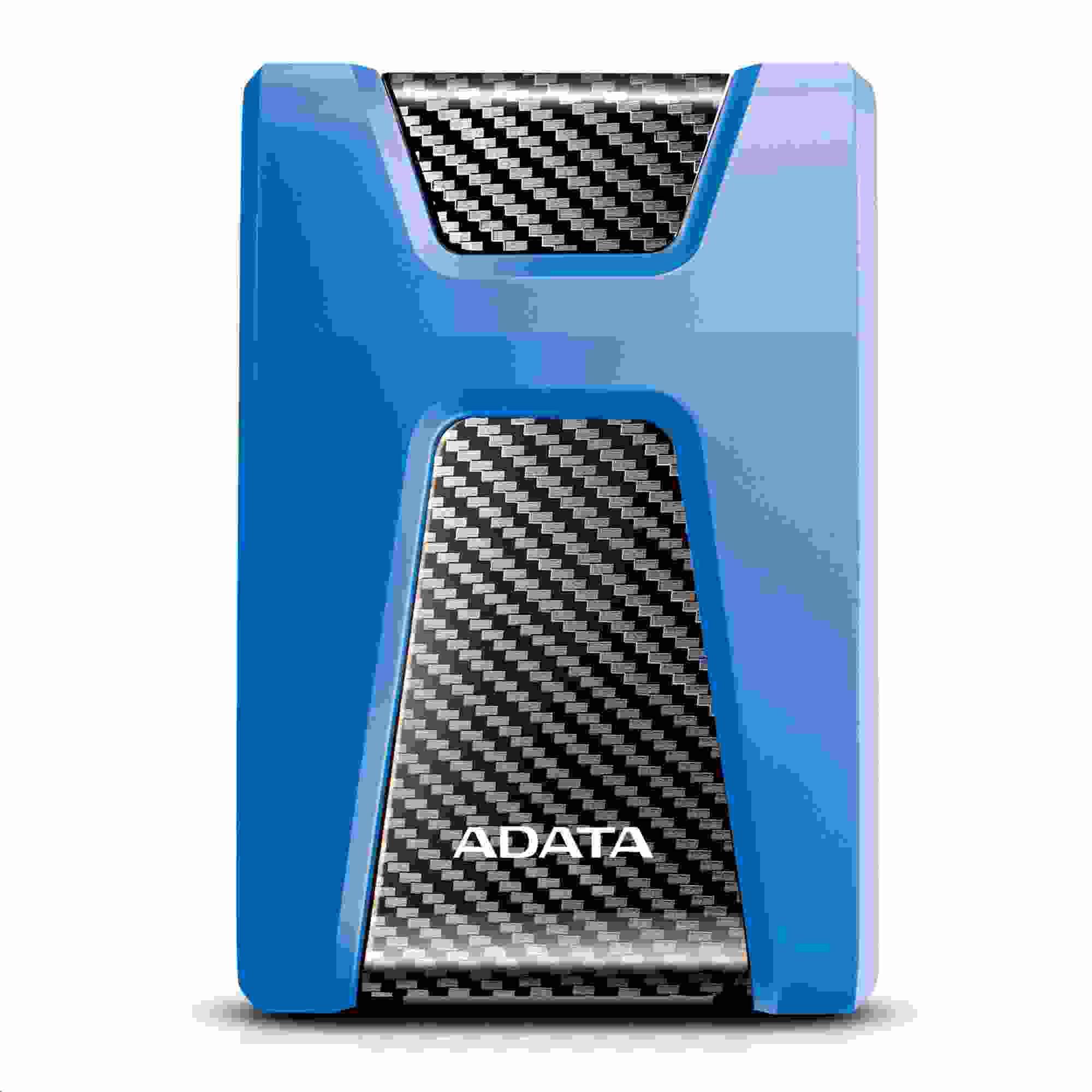 """ADATA Externí HDD 2TB 2,5"""" USB 3.1 DashDrive Durable HD650, modrý (gumový, nárazu odolný) (AHD650-2TU31-CBL)"""