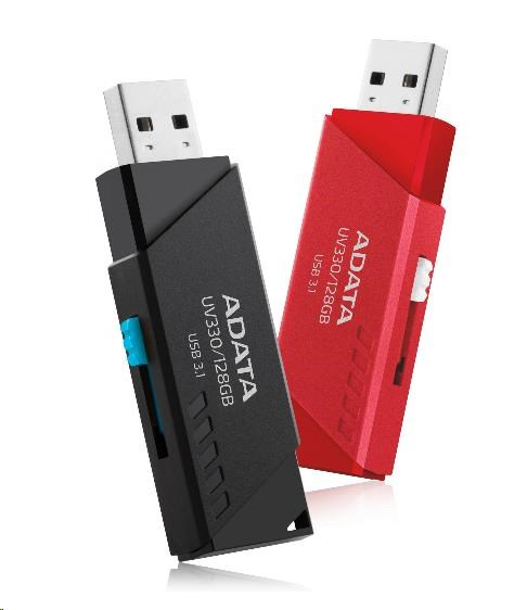 ADATA Flash Disk 16GB USB 3.1 Dash Drive UV330, Black (AUV330-16G-RBK)