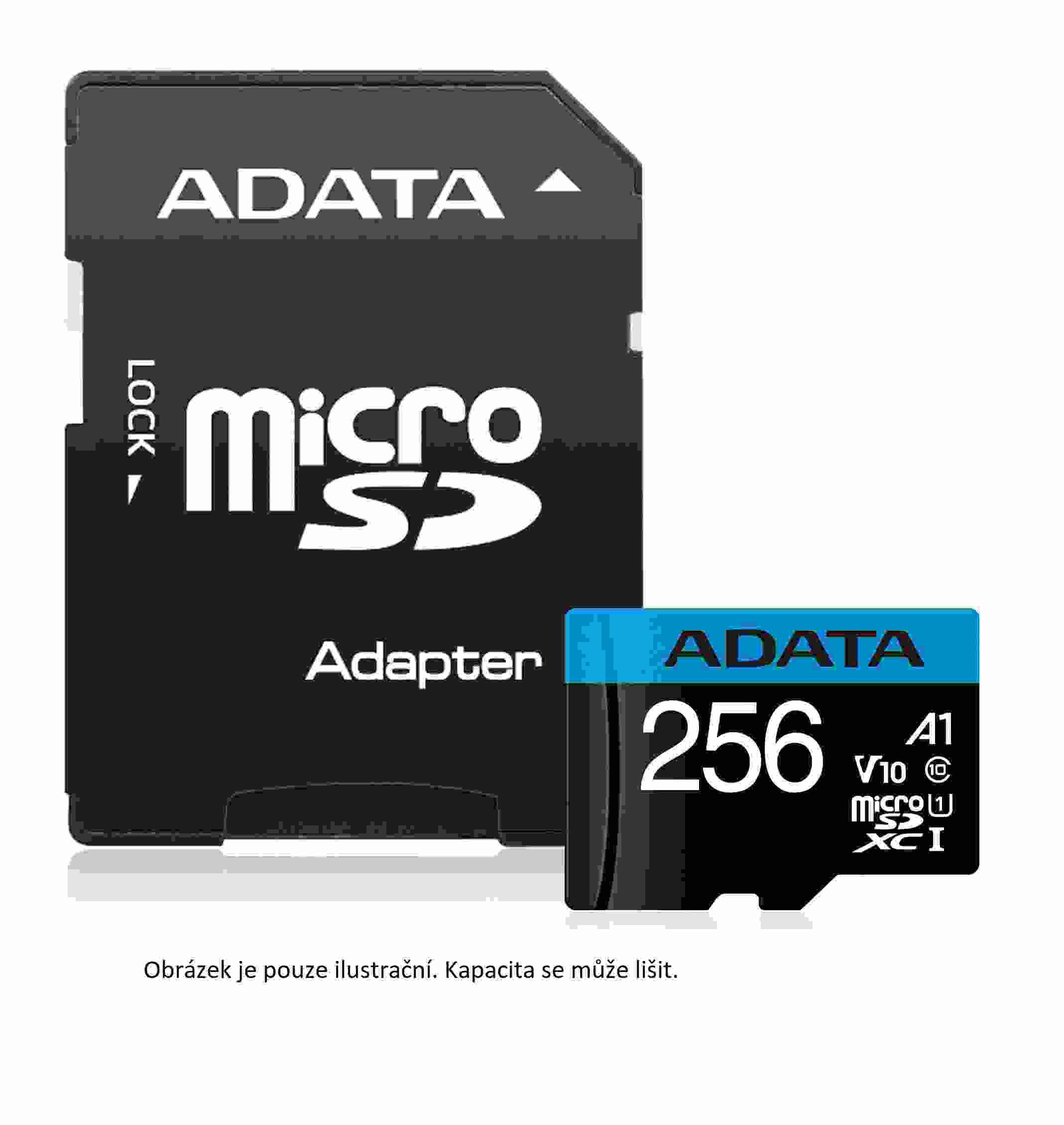 ADATA Micro SDHC karta 16GB UHS-I Class 10, Premier + ADAPTER (AUSDH16GUICL10A1-RA1)