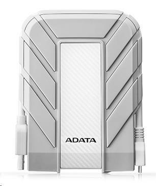 "ADATA Externí HDD 1TB 2,5"" USB 3.1 DashDrive™ Durable HD710A Pro, bílý (gumový, vodě/nárazu odolný), for MAC"