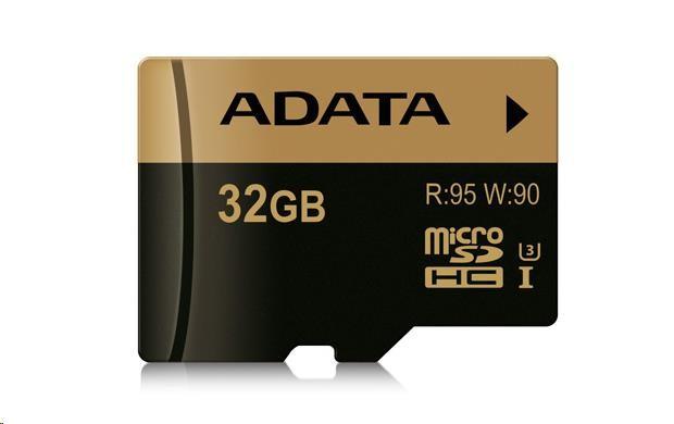 ADATA Micro SDHC karta XPG 32GB UHS-I U3 (R: 95MB / W: 90MB)