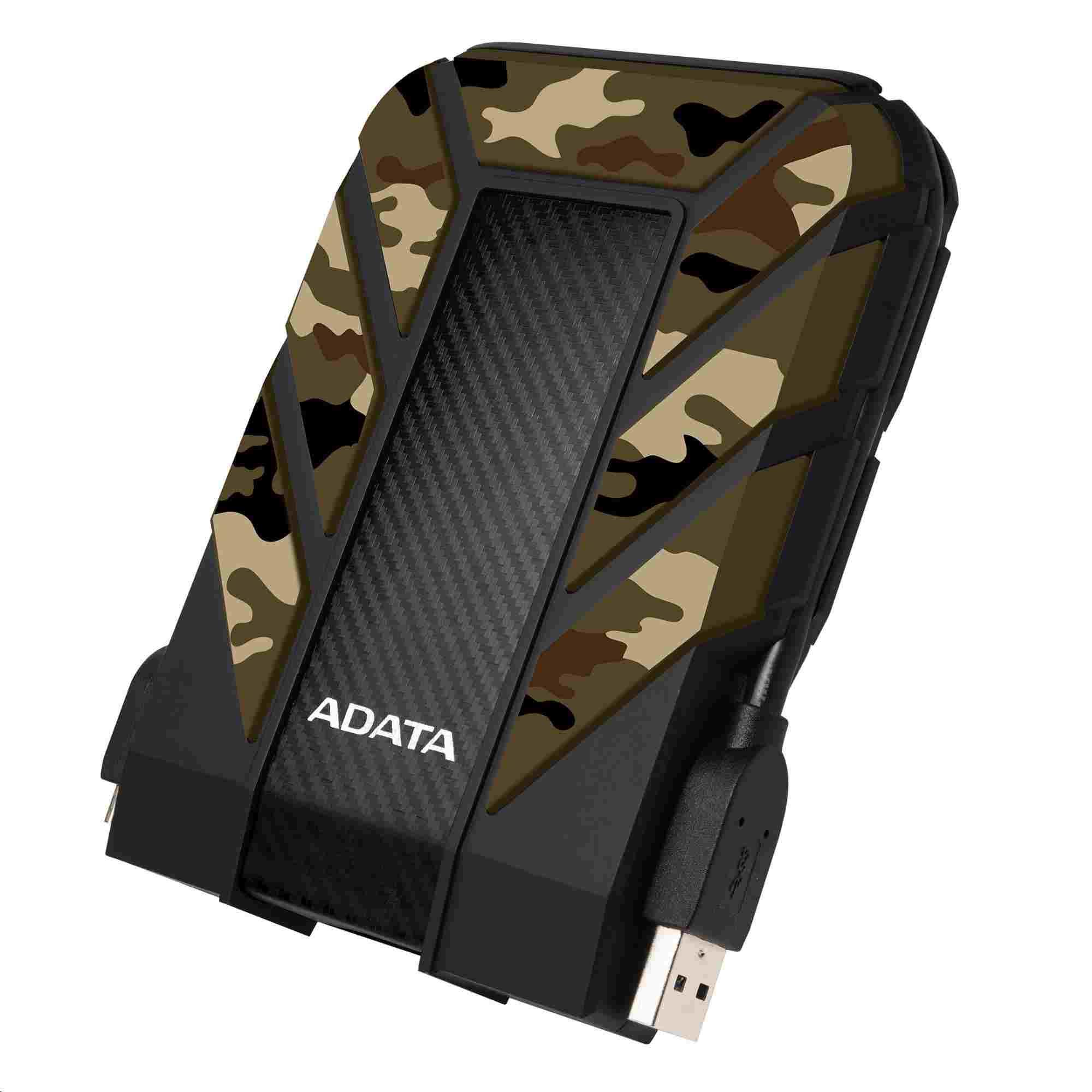 "ADATA Externí HDD 1TB 2,5"" USB 3.0 DashDrive Durable HD710M, kamufláž (gumový, nárazu/vodě/pra"