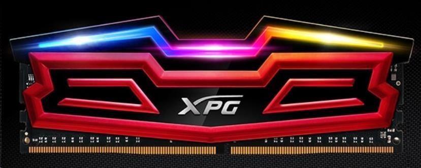 DIMM DDR4 8GB 3000MHz CL16 (KIT 1x8GB) ADATA XPG SPECTRIX D40, Red Single pack