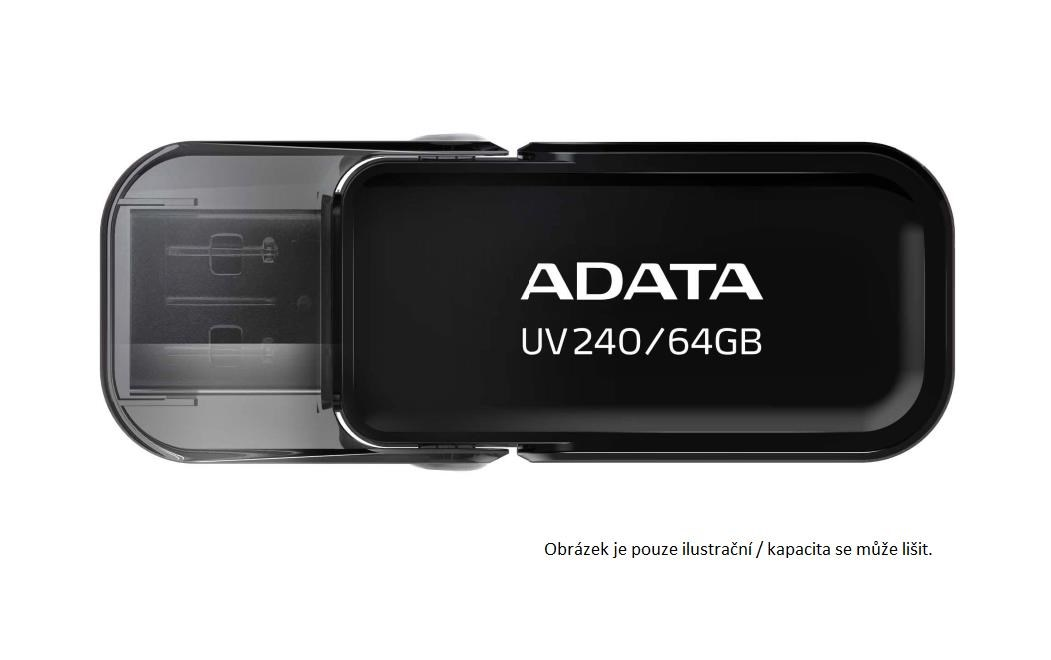 ADATA Flash Disk 16GB USB 2.0 Dash Drive UV240, Black