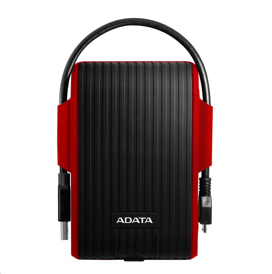 """ADATA Externí HDD 1TB 2,5"""" USB 3.1 DashDrive™ Durable HD725, červený (red)"""
