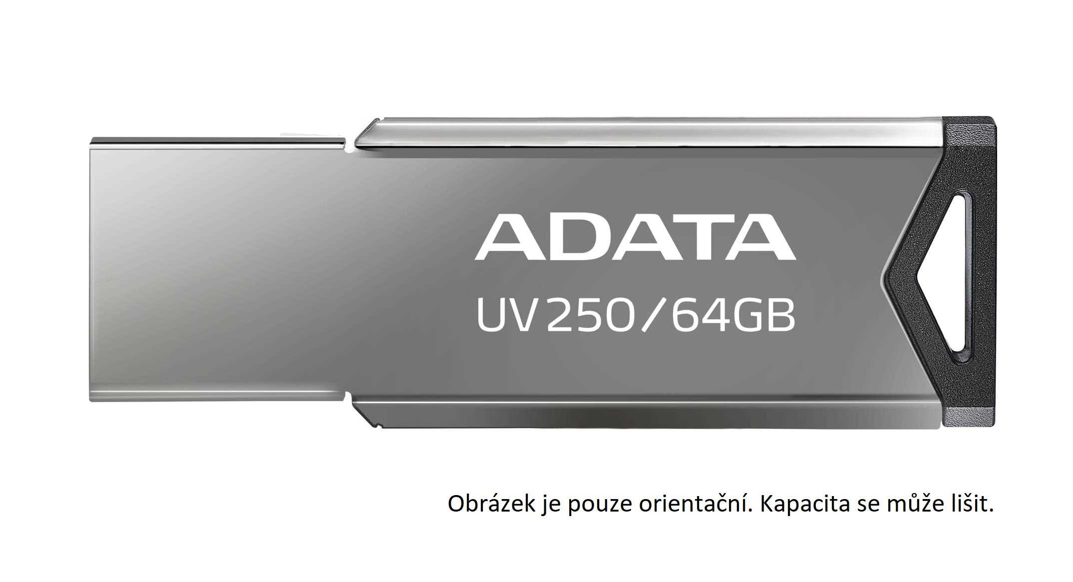 ADATA Flash Disk 16GB USB 2.0 DashDrive UV250, stříbrná
