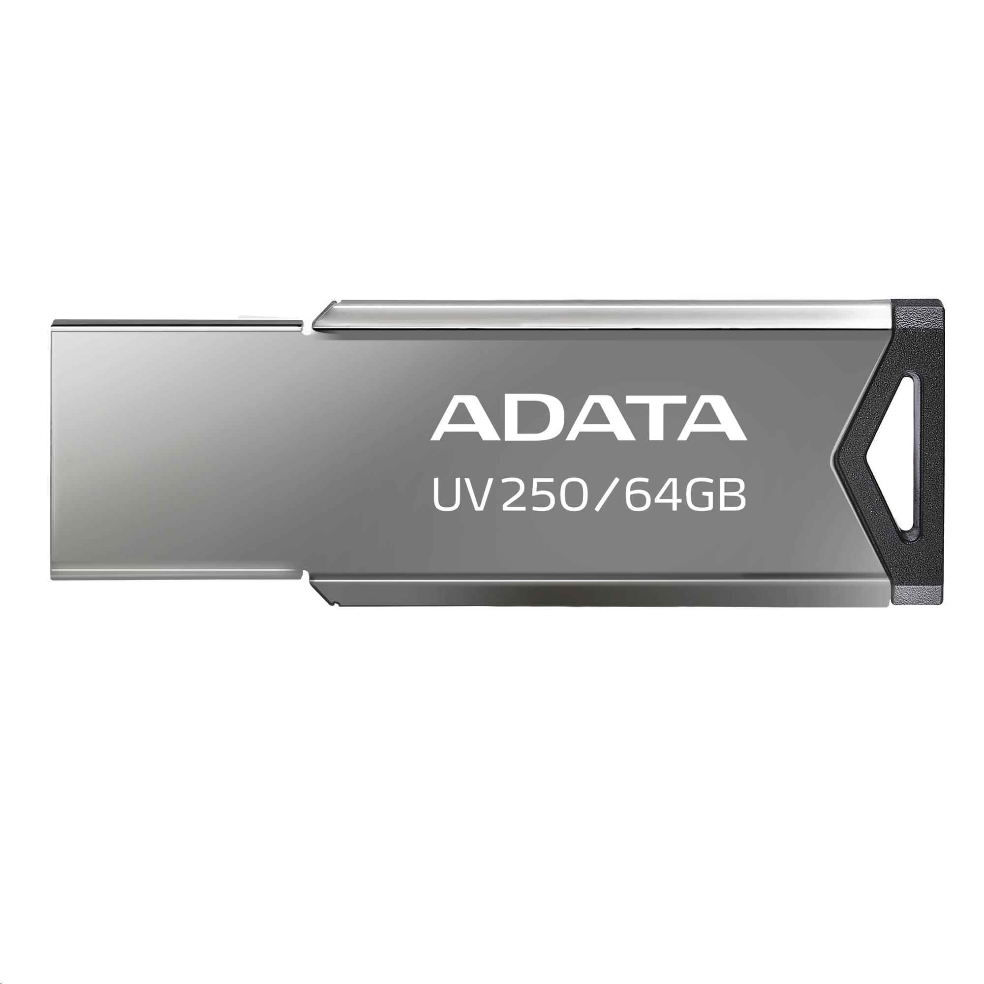 ADATA Flash Disk 64GB USB 2.0 DashDrive UV250, stříbrná