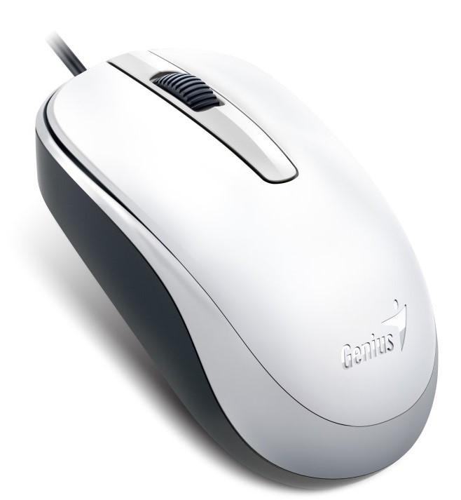 GENIUS myš DX-120, drátová, 1200 dpi, USB, bílá (31010105102)