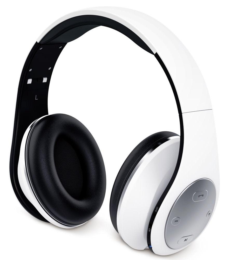 GENIUS sluchátka s mikrofonem HS-935BT, / Bluetooth 4.1/ dobíjecí/ bílá (31710199101)