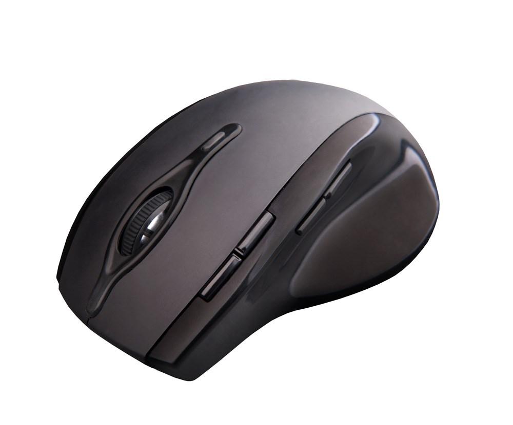 C-TECH myš WLM-11, černá, bezdrátová, 2400DPI, 8 tlačítek, programovatelná, USB nano receiver (WLM-11BK)