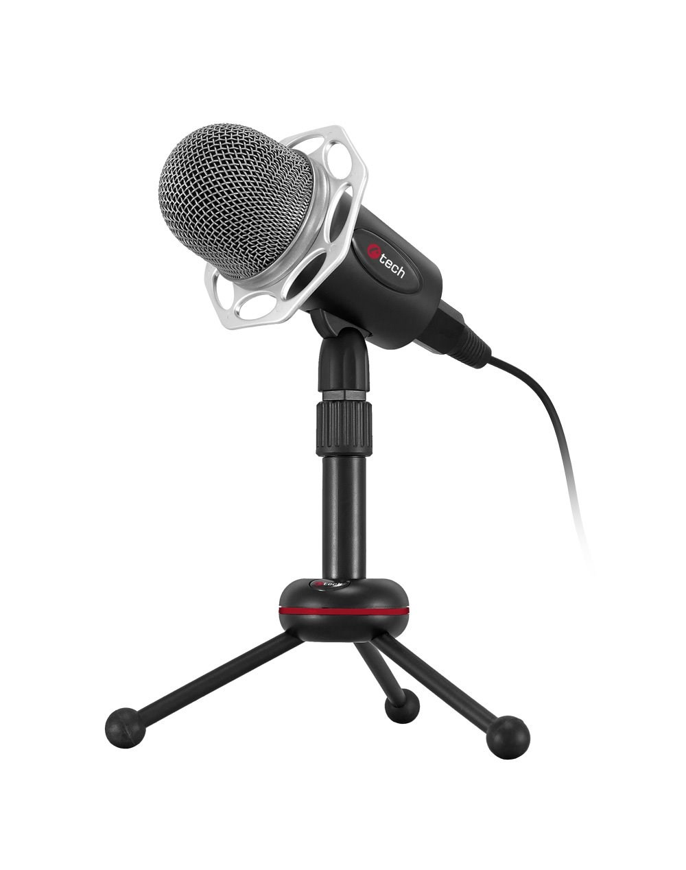 """C-TECH stolní mikrofon MIC-03, 3,5"""" stereo jack, 2.5m"""