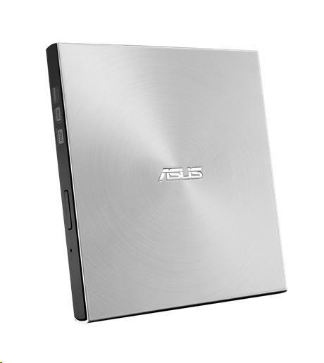 ASUS DVD Writer SDRW-08U7M-U SILVER RETAIL, External Slim DVD-RW, silver, USB (NERO Backitup) (90DD01X2-M29000)