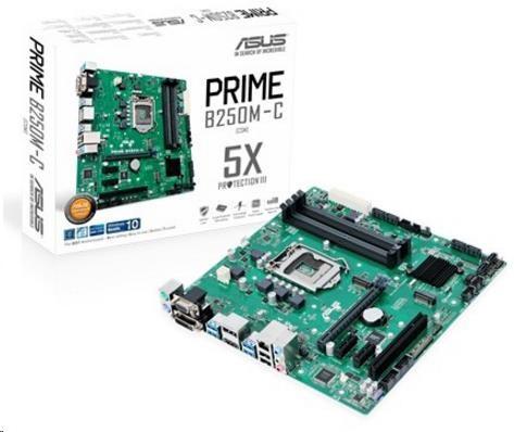 ASUS MB Sc LGA1151 PRIME B250M-C, Intel B250, 4xDDR4, VGA, mATX (90MB0SQ0-M0EAYM)