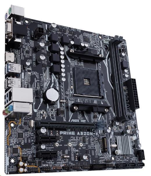 ASUS MB Sc AM4 PRIME A320M-K, AMD A320, 2xDDR4, VGA, mATX (90MB0TV0-M0EAY0)